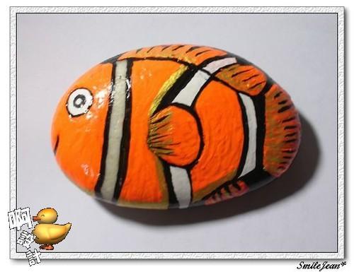 彩绘石头-〉鱼